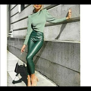 Zara Faux leather leggings L